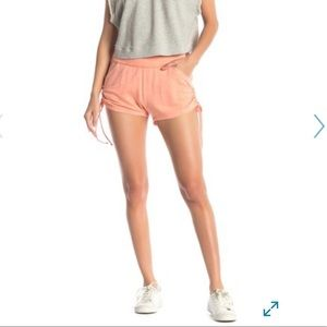 Free people side drawstring shorts size m coral